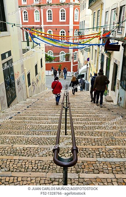 Calçada do Duque Barrio, Chiado district, Lisbon, Portugal, Europe