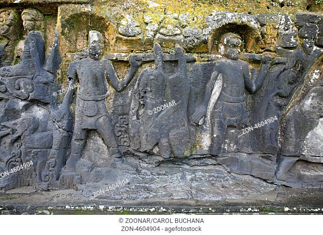 Yeh Pulu relief is an ancient complex of rock carvings at Bedulu, near Ubud, Bali. It is believed that the carvings date back to the 14th century