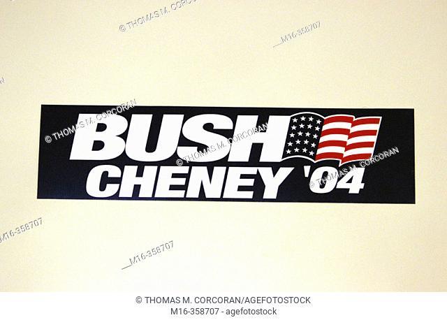 2004 presidential campaign: A Bush/Cheney bumper sticker