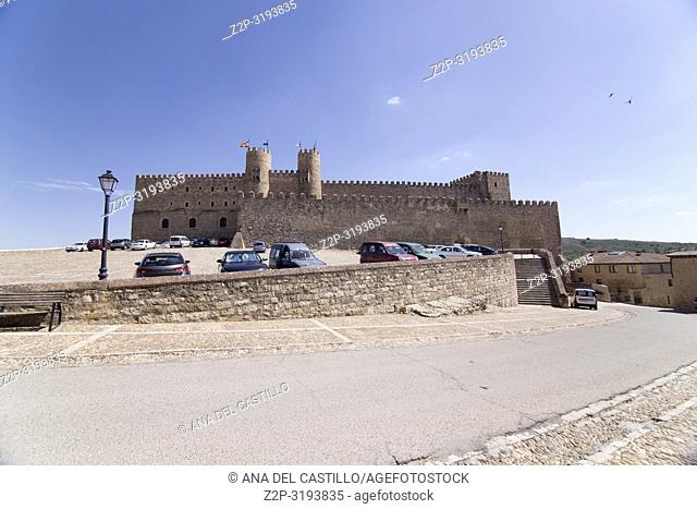 Siguenza is a medieval village in Guadalajara Castile La Mancha Spain. The castle now a state run hotel or parador