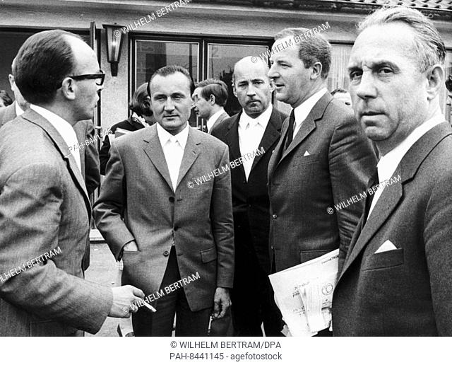 On the 27th of May in 1968, the process against seven chief executives of the Contergan manufacturing company Chemie Grünenthal starts
