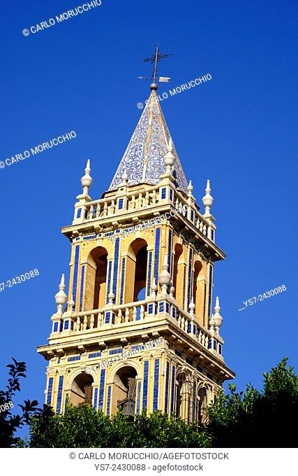 Santa Ana church bell tower, Triana neighborhood, Seville, Andalusia, Spain