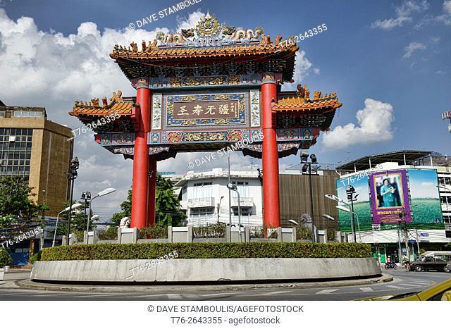 The Chinatown Gate in Bangkok, Thailand