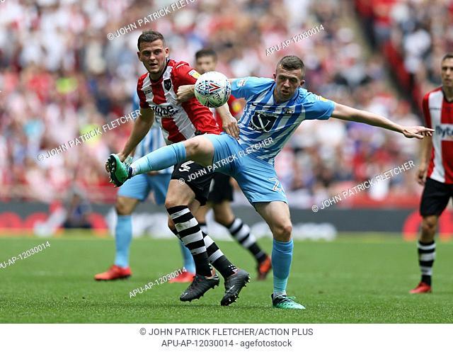 2018 EFL League 2 Football Playoff Final Coventry City v Exeter City May 28th. 28th May 2018, Wembley Stadium, London, England; EFL League 2 football