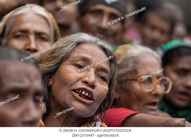 Underprivileged people from different community gathered in front of press club Dhaka demanding their rights for proper living in International Human Rights Day...