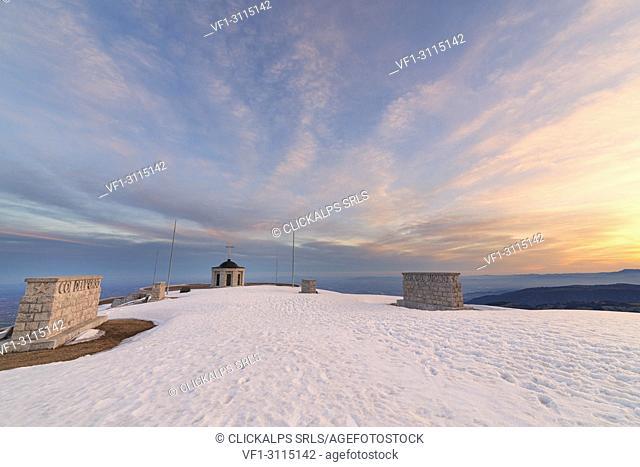 The monumental area of Cima Grappa, Grappa Mount, Prealps of Belluno, Crespano del Grappa, Vicenza province, Veneto, Italy