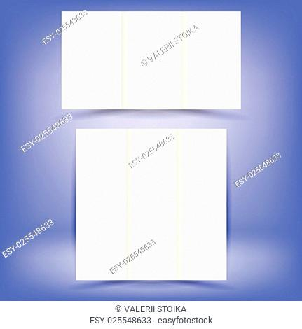 White Paper Brochures Isolated on Soft Blue Background