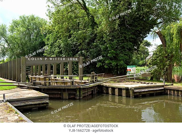 Colin P Witter Lock, previously called Stratford Lock in Stratford upon Avon, England