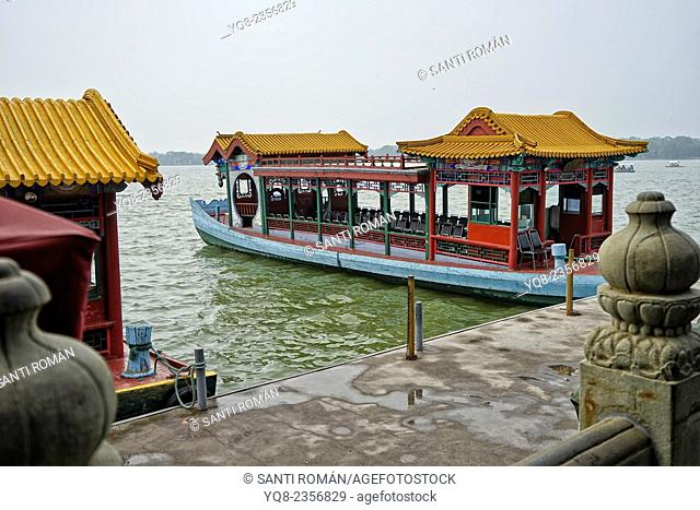 Asia, Beijing, Peking, China, Heritage, Holiday, Kunming, Lake, Landmark, Qing dynasty, Boat