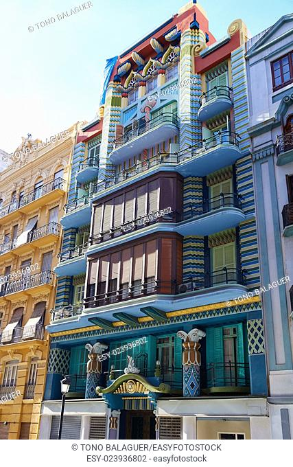 Valencia Casa Judia house Egyptian in Castello street of Spain