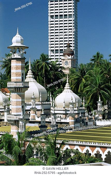 The Masjid Jamek Friday Mosque built in 1909 near Merdeka Square in the city of Kuala Lumpur, Malaysia, Southeast Asia, Asia