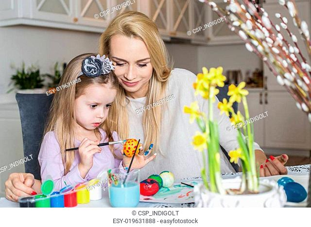 Easter, daughter, mother, home