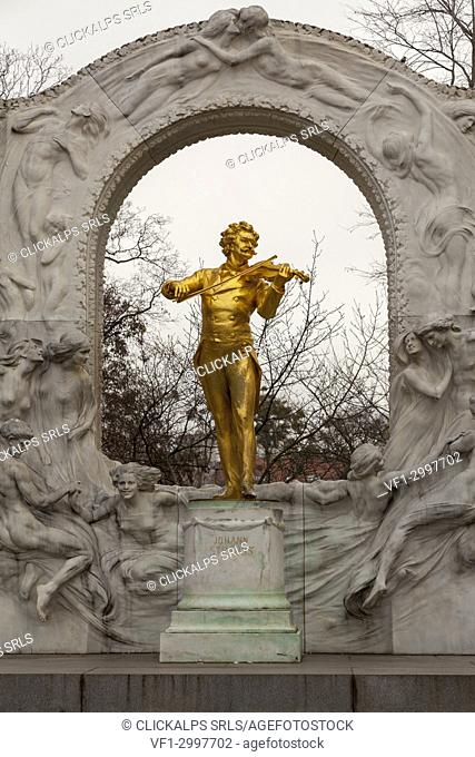 Monument to Johann Strauss II, Vienna, Austria