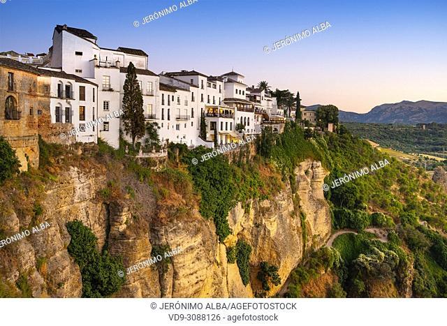 El Tajo gorge. Monumental city of Ronda. Malaga province Andalusia. Southern Spain Europe
