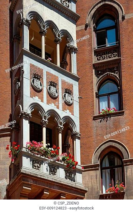 Old architecture on Istiklal Caddesi - Istanbul