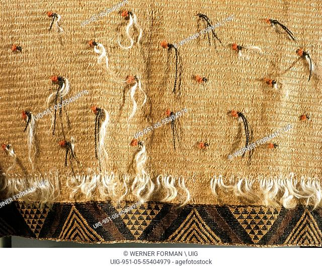 Womans rapaki, or skirt, bordered with taniko weaving