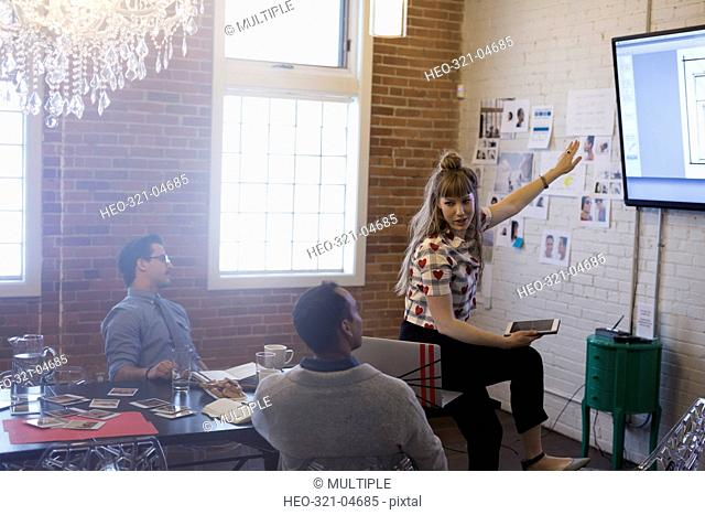 Designers meeting brainstorming in conference room