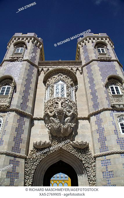 Alegorical Gateway of the Creation, Pena National Palace, Sintra, UNESCO World Heritage Site, Portugal