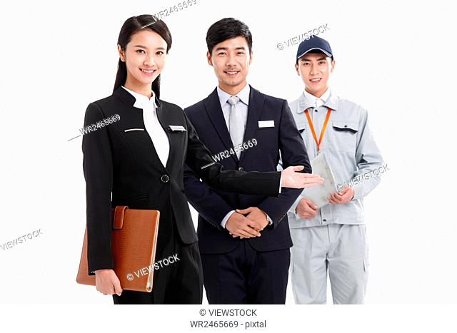 Portrait of sales team