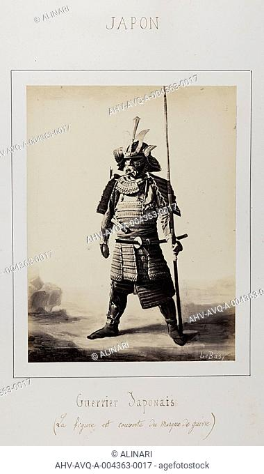 Album J. D.: Japanese warrior with war mask, shot 1866 by Le Bas