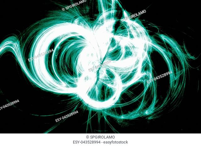 High Energy Particles Collision - Abstract Illustration