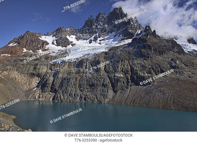 Lago Castillo in the beautiful Cerro Castillo Reserve, Aysen, Patagonia, Chile