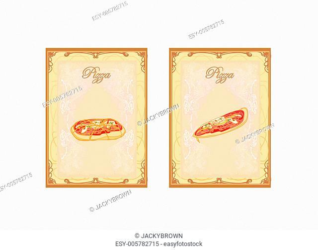 Pizza Menu card set