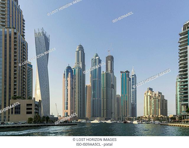 Skyscrapers in Dubai marina, Dubai, United Arab Emirates