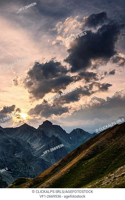 Italy, Piedmont, Cuneo District, Maira Valley - Oronaye peak after the storm