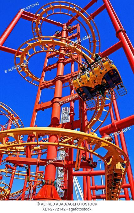 Wurstelprater amusement park, Prater, Vienna, Austria