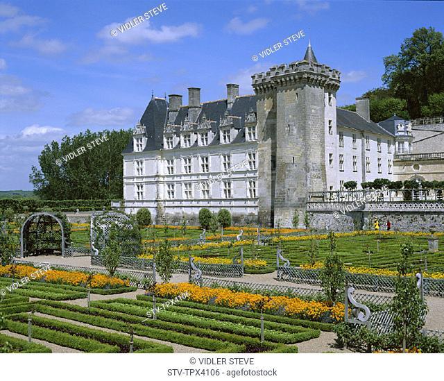 Chateau, France, Europe, Garden, Holiday, Landmark, Loire valley, Renaissance, Tourism, Travel, Vacation, Villandry, Villandry c