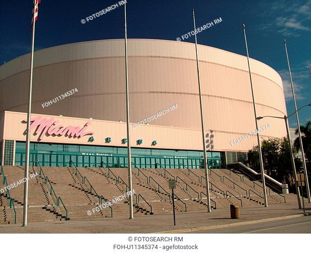 Miami, FL, Florida, downtown, Miami Arena