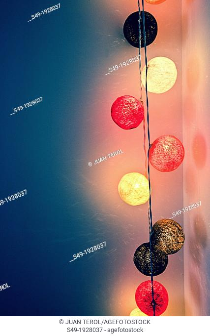 Colored circular lights