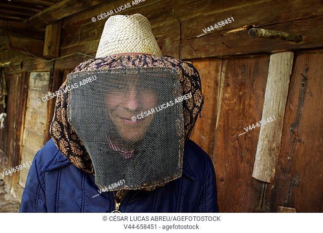 Beekeeper, Beaufort Valley. Rhone Alpes, France