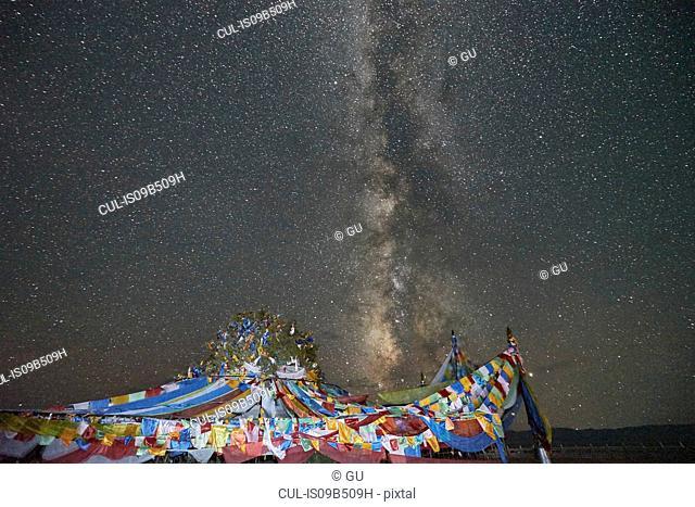 Milky Way, Chaka Salt Lake, Haixi, Qinghai Province, China