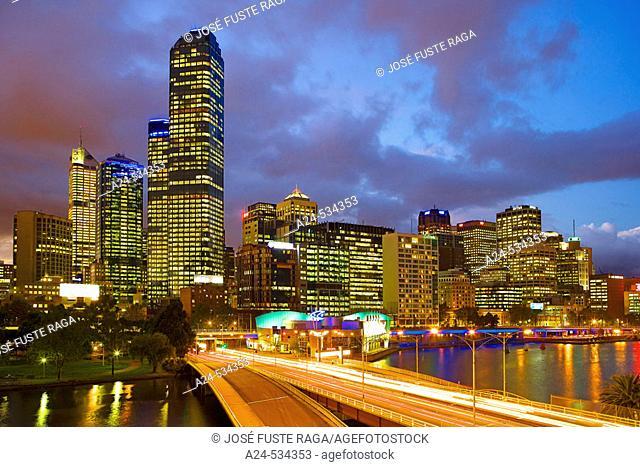 Rialto Towers. Kings Bridge. Melbourne City. Victoria. Australia. April 2006