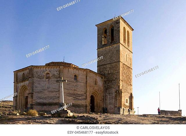 City of Segovia, Spain. Vera Cruz Church
