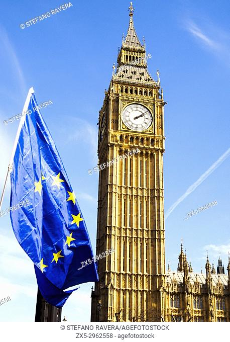 25th March 2017 Rally pro European Union against Brexit - London, England