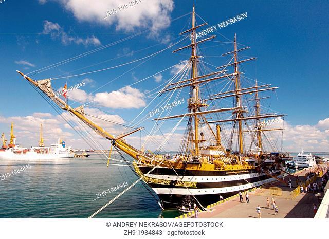 The Italian sailing vessel Amerigo Vespucci, port of Odessa, Ukraine, Europe