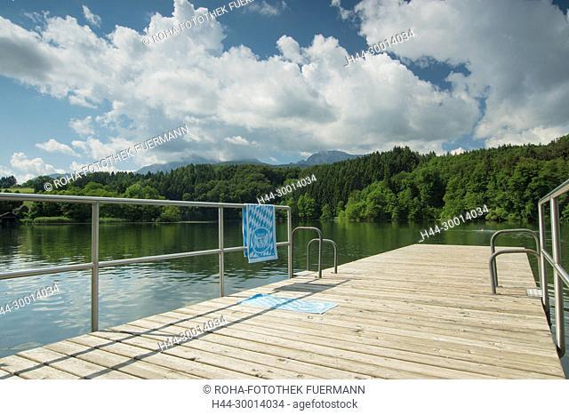 das Schwimmbad am Höglwörther See