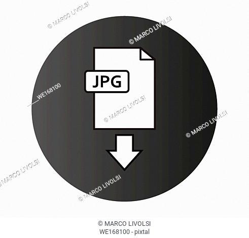 jpeg download icon