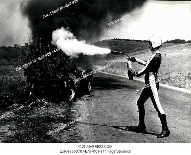 Jul. 07, 1966 - Elsa Kartinelli wins the 'Rally' Elsa Murtineli, after her first cinematographic successes in America with 'Il cacciatore di indaini'