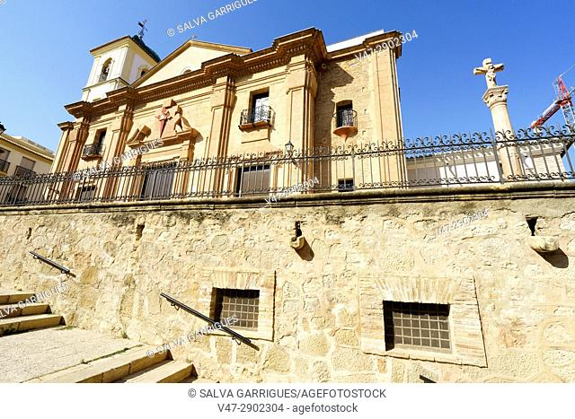 Facade of the church of Santiago, Lorca, Murcia, Spain