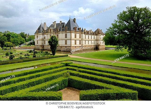 Castle and gardens of Cormatin, Cormatin, Saone et Loire, France