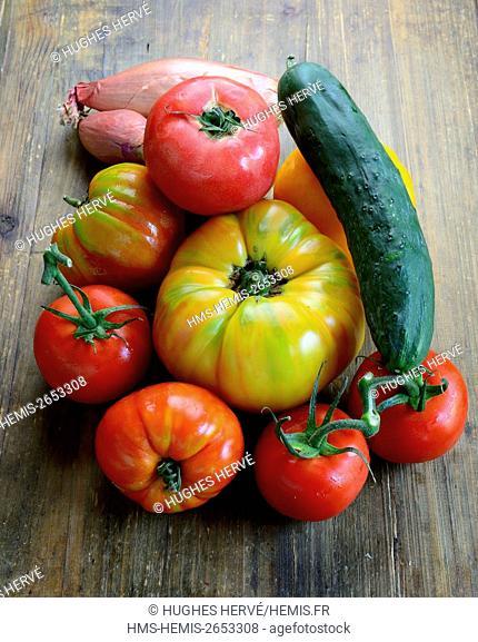 France, Vaucluse, Le Barroux, restaurant Le Gajulea, Michel Philibert, tomatoes
