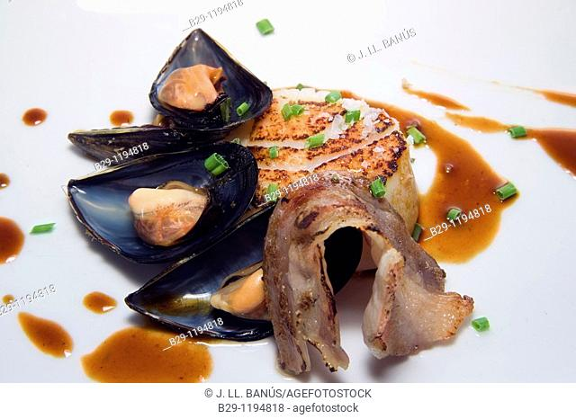 fish with mussels