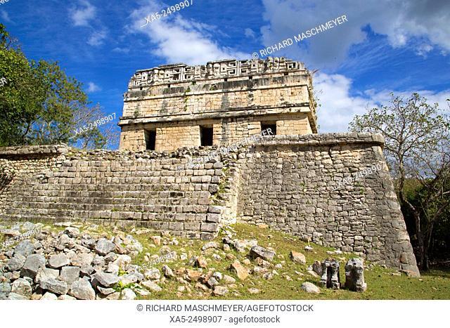 The Red House, Casa Colorada, Chichen Itza, Yucatan, Mexico