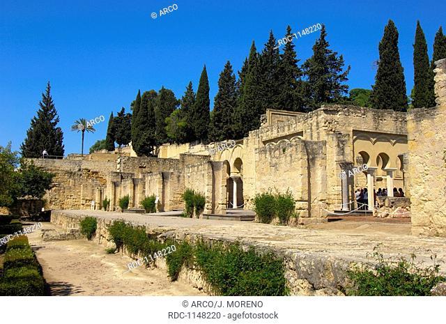 Ruins of Medina Azahara, palace built by caliph Abd al-Rahman III, Cordoba, Andalusia, Spain