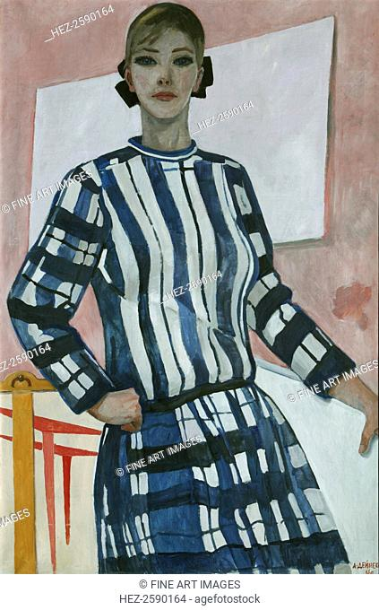 Young Constructor, 1966. Found in the collection of the State Tretyakov Gallery, Moscow. ARTIST'S COPYRIGHT MUST ALSO BE CLEARED