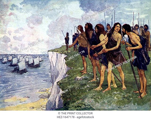 Britons awaiting the imminent arrival of viking ships, c16th century